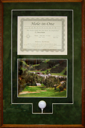 Hole in One Framed Shadow Box