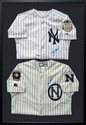 Old Yankees Jersey Shadowboxes